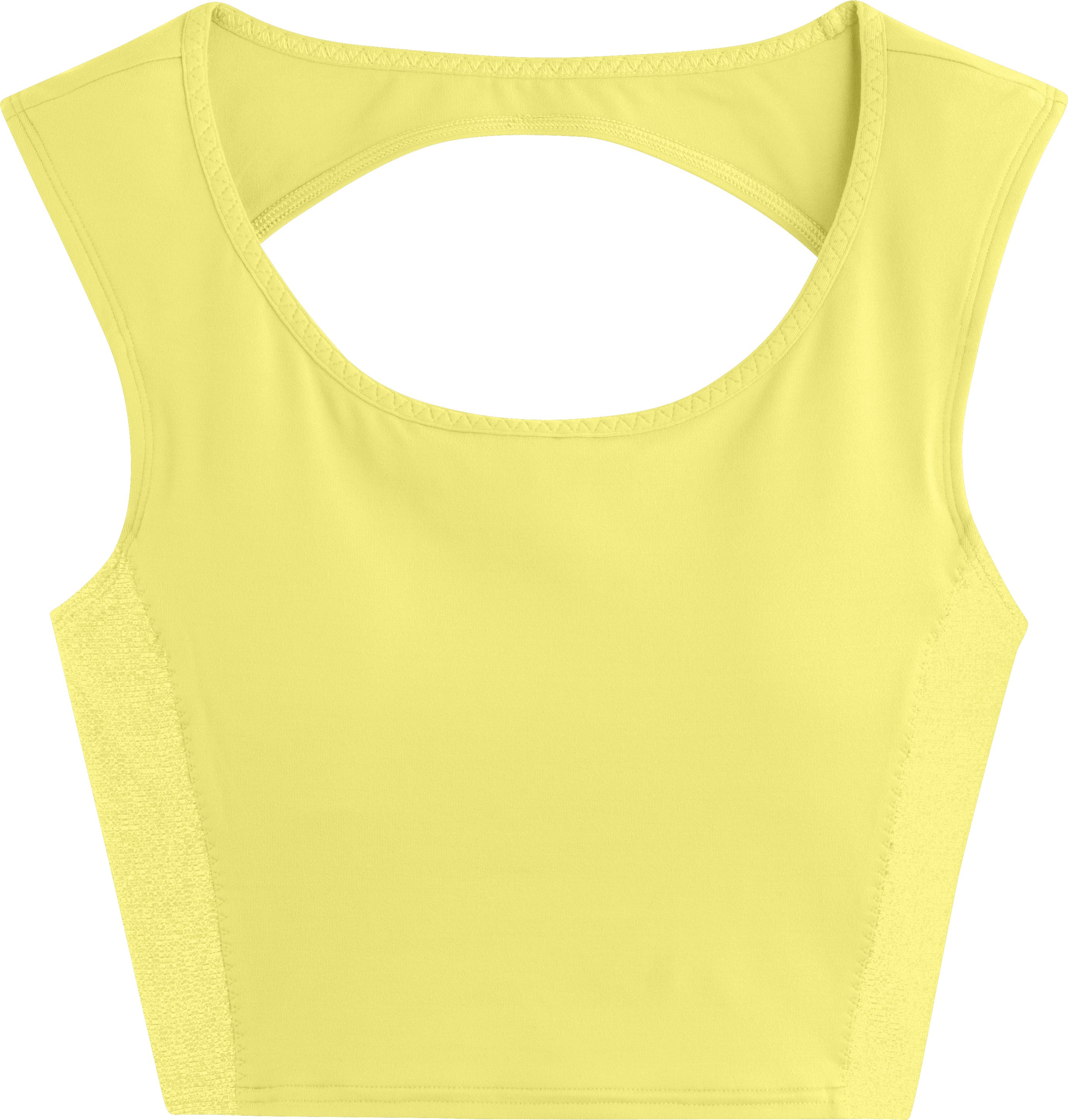 Women's UA Street Sleek Showy Tank, CHAMOMILE, Laydown