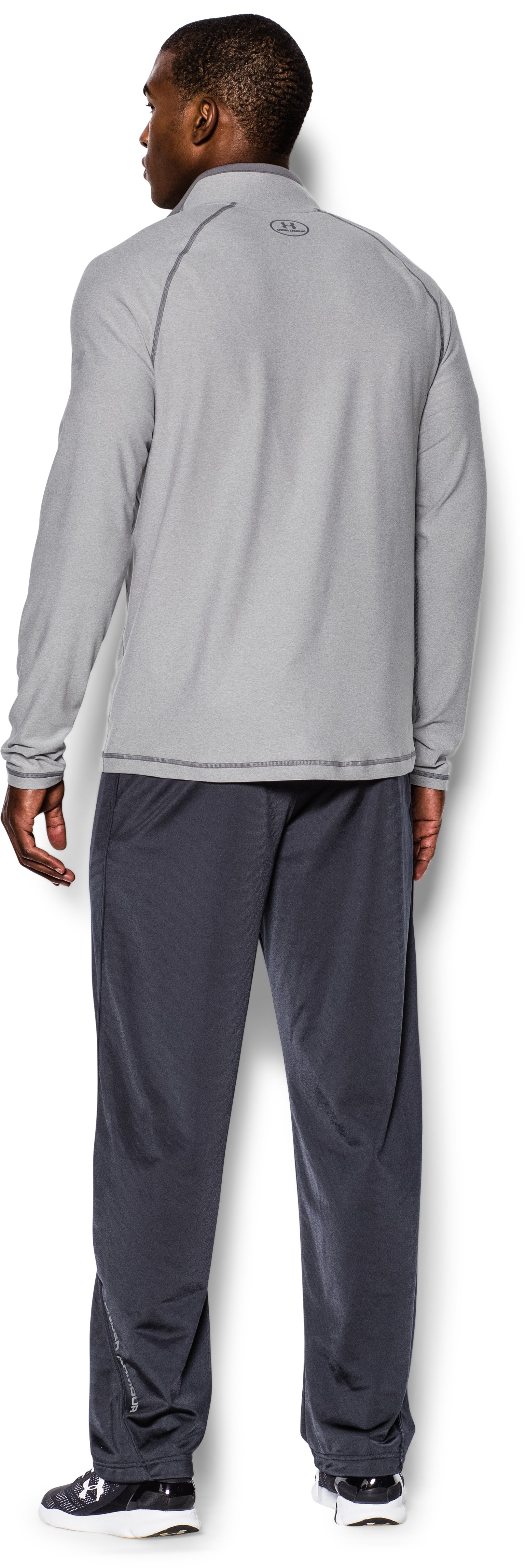 Men's UA Ultimate ¼ Zip, True Gray Heather, Back