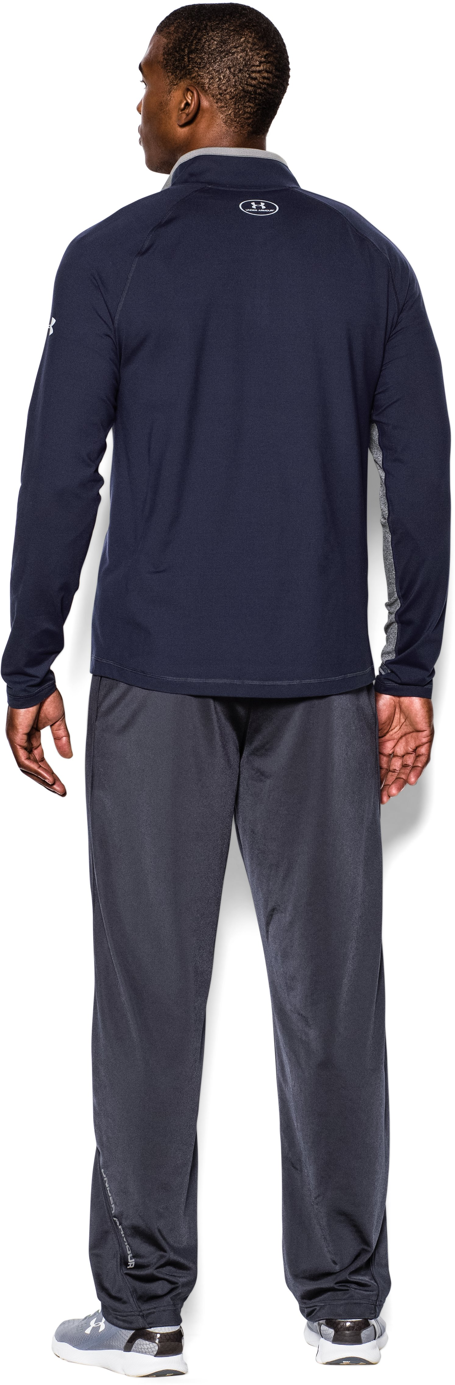 Men's UA Ultimate ¼ Zip, Midnight Navy, Back