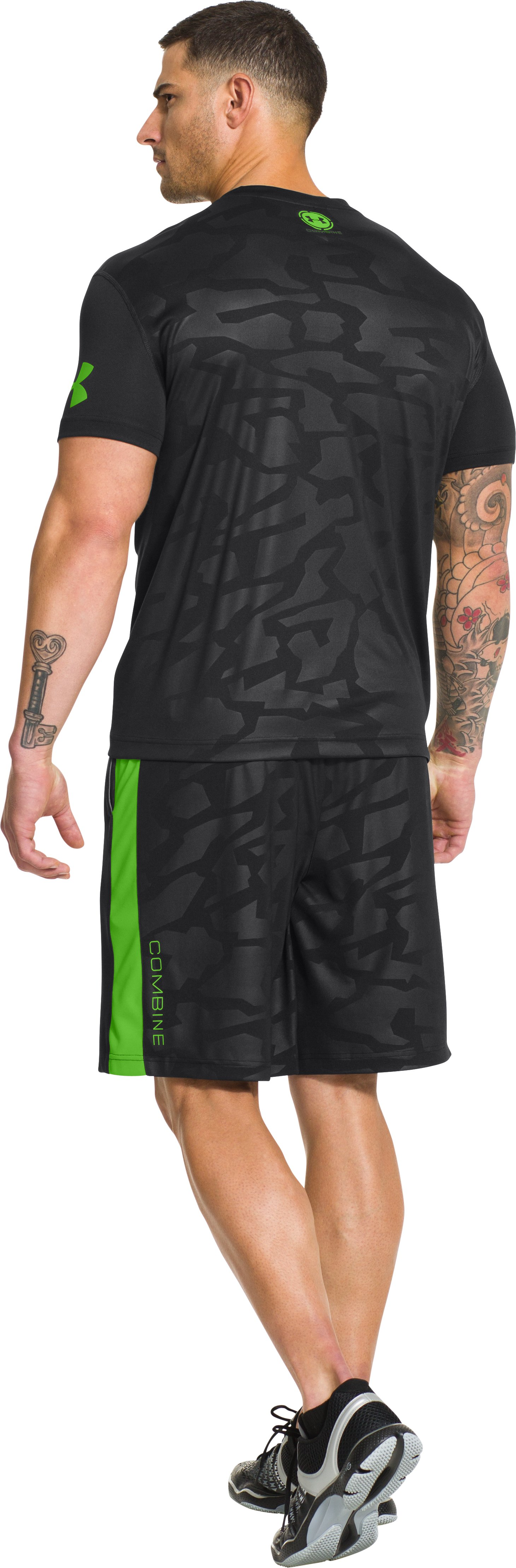 Men's UA Combine® Training Short Sleeve, Black , Back