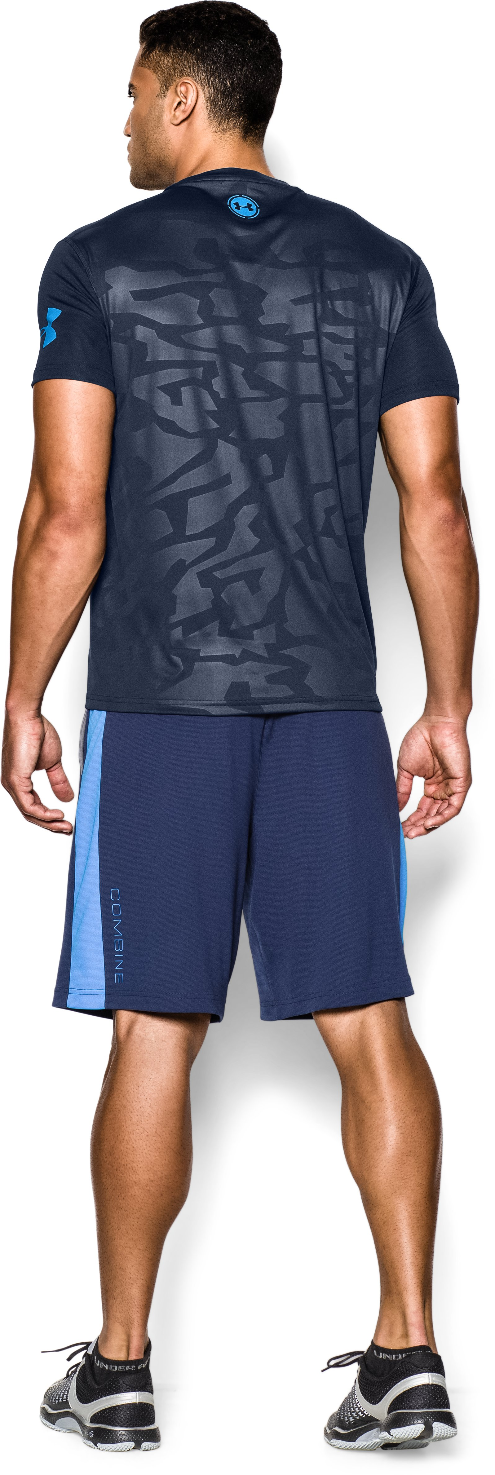 Men's UA Combine® Training Short Sleeve, Academy, Back