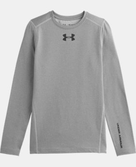 Boys' UA ColdGear® Armour Fitted Crew