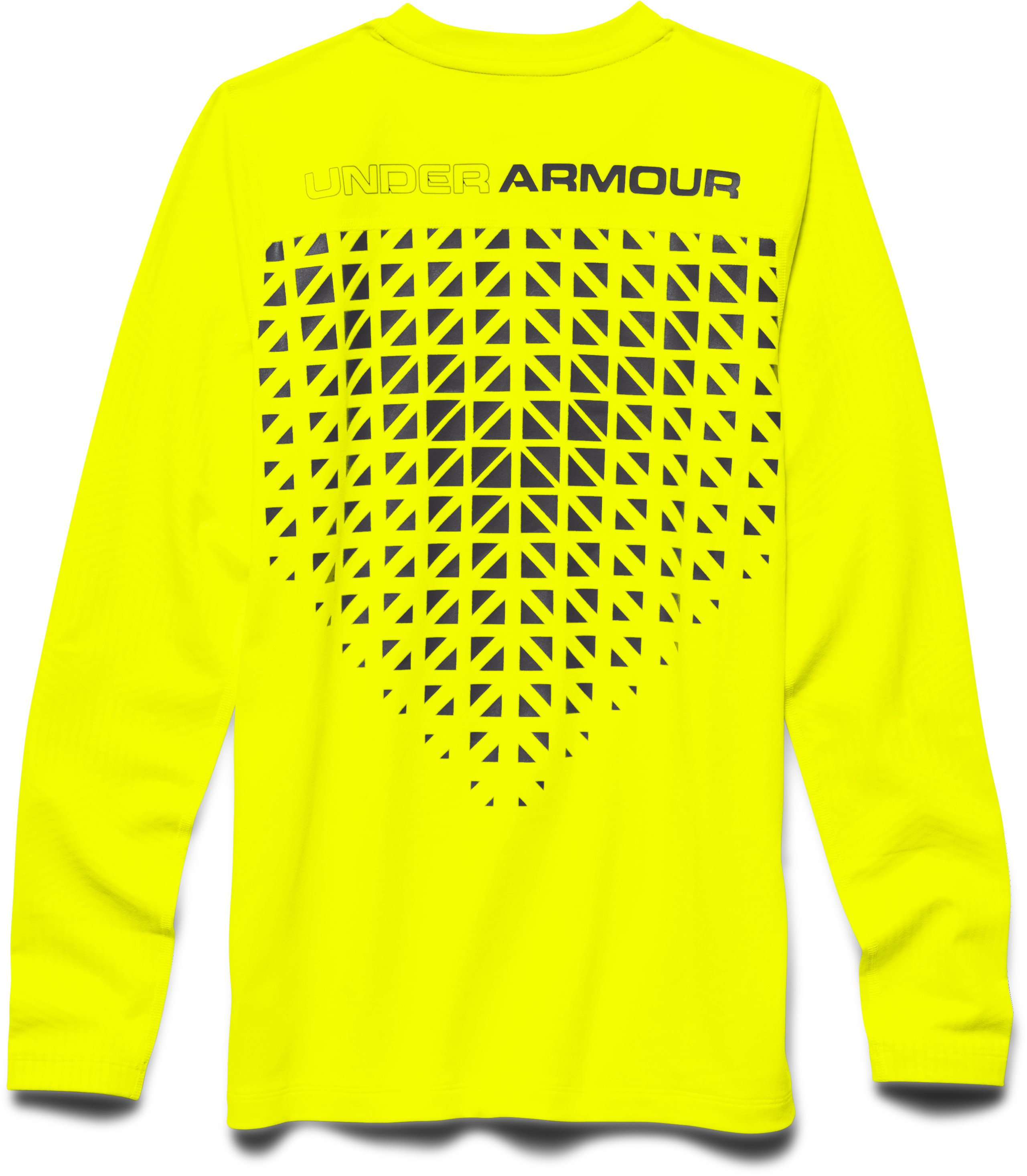 Boys' UA ColdGear® Infrared Everyday Crew, YELLOW RAY
