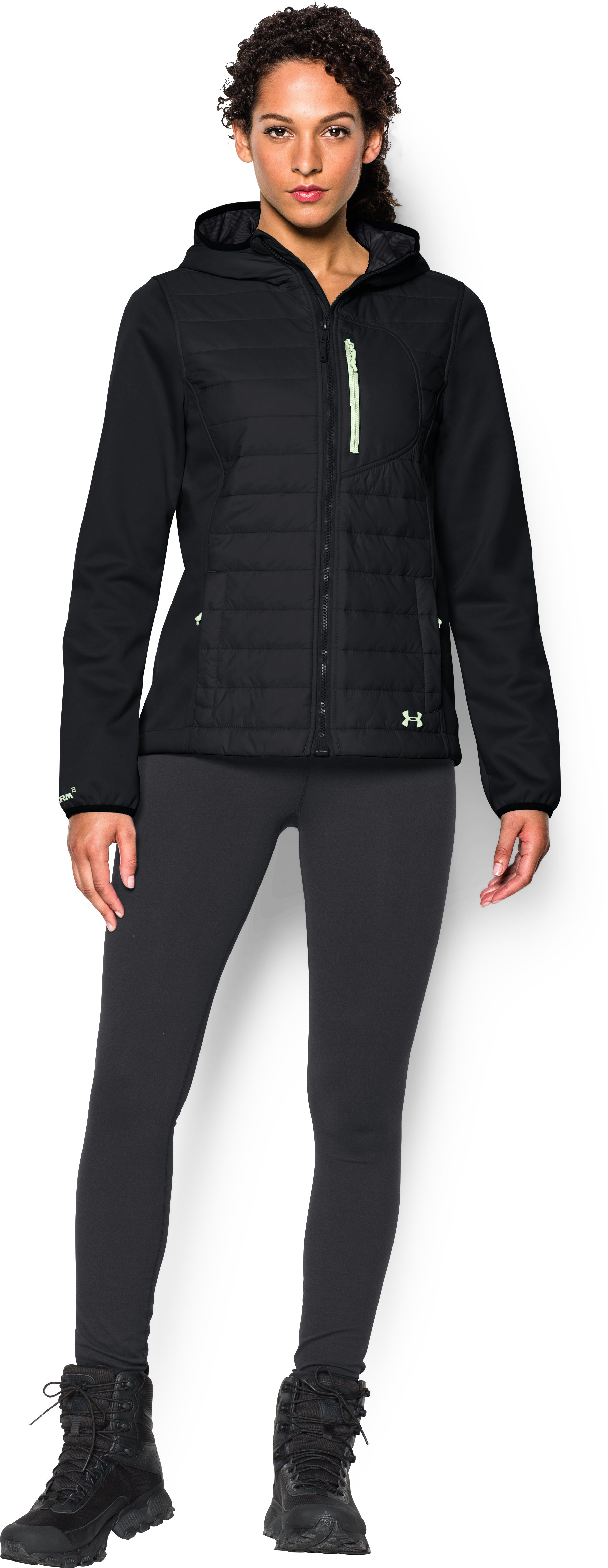 Women's UA ColdGear® Infrared Werewolf Jacket, Black , Front