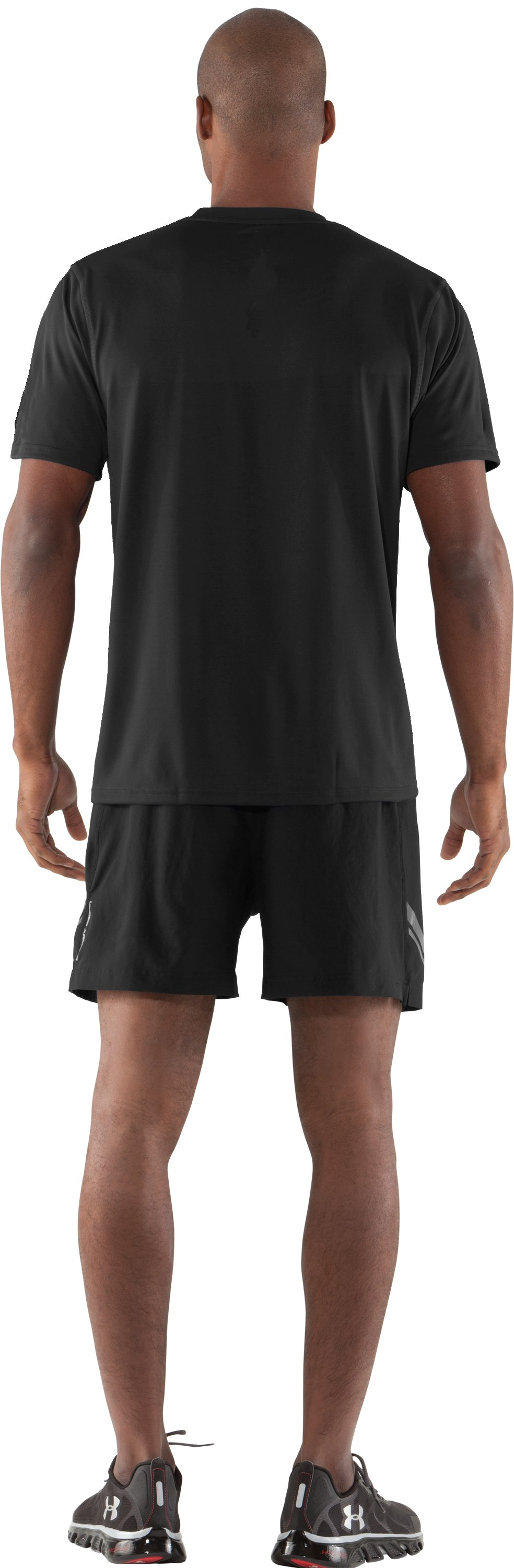 Men's UA Built 4 Speed T-Shirt, Black , Back