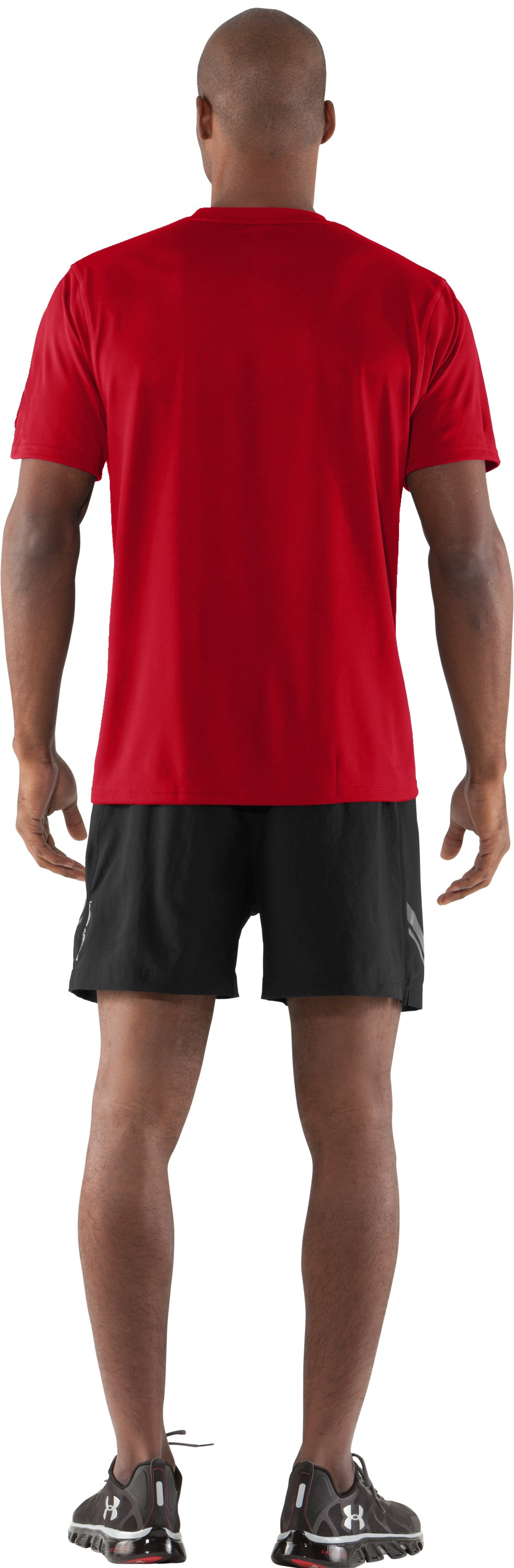 Men's UA Built 4 Speed T-Shirt, Red, Back