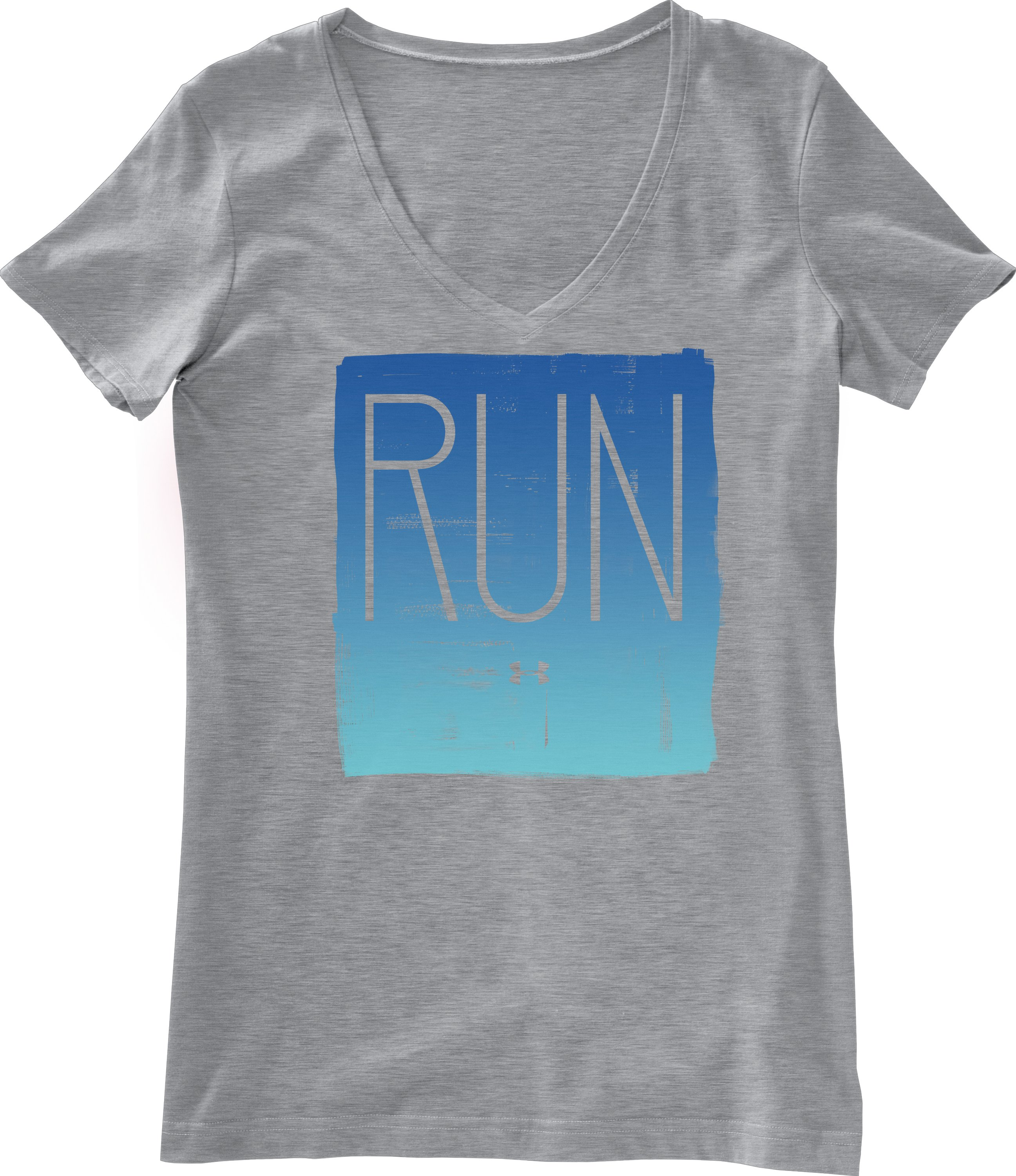 Women's UA Run Graphic T-Shirt, True Gray Heather, Laydown