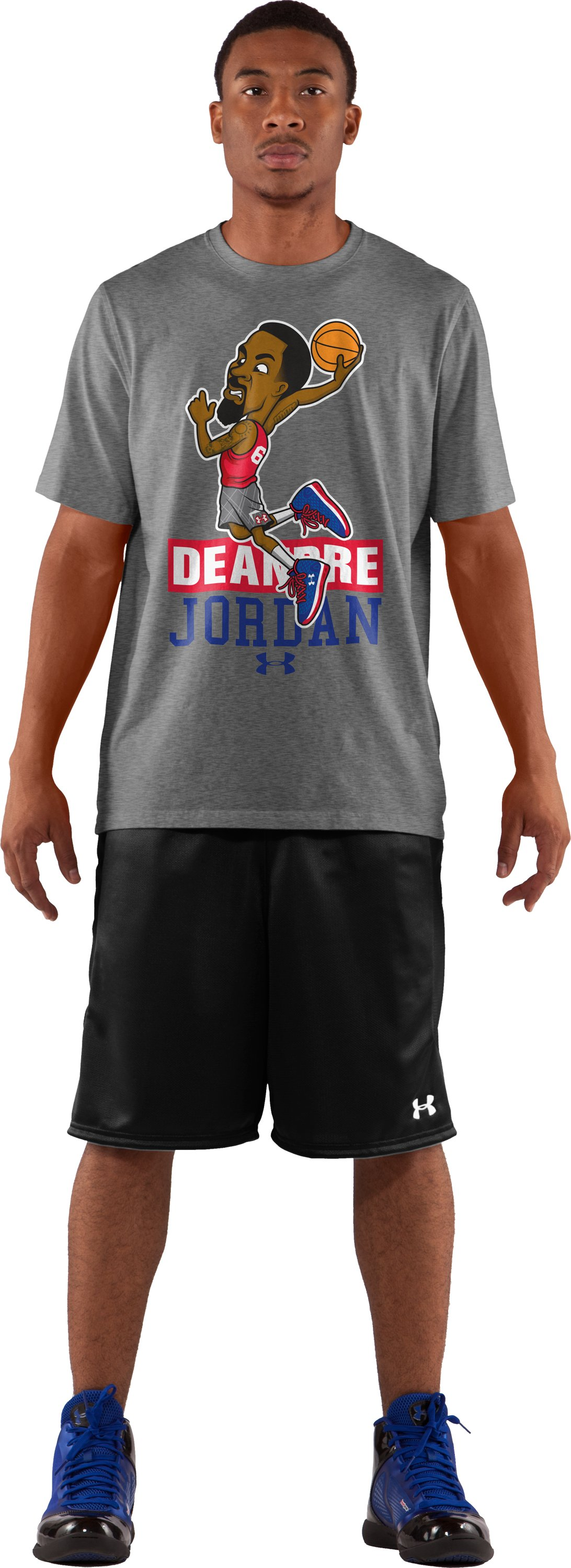 Men's UA DeAndre Jordan T-Shirt, True Gray Heather, Front