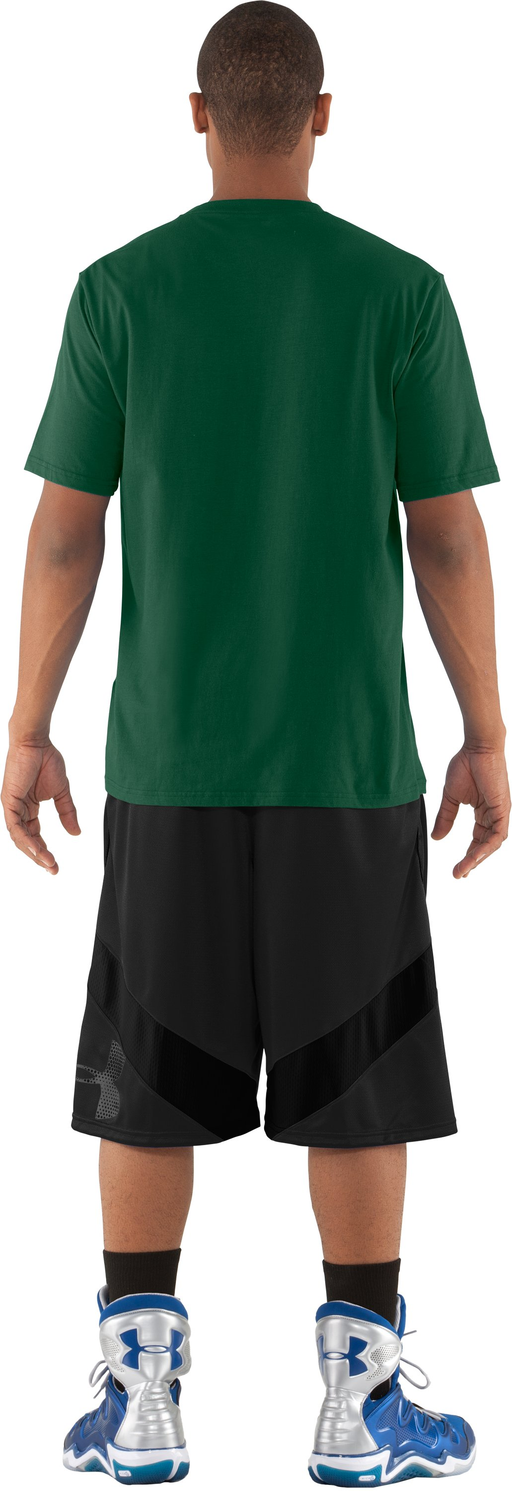 Men's Miami UA Basketball T-Shirt, Forest Green, Back