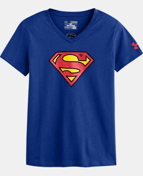 Girls' UA Supergirl V-Neck