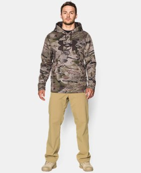 Men's Armour® Fleece Camo Big Logo Hoodie  8 Colors $42.74