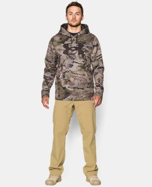 Men's Armour® Fleece Camo Big Logo Hoodie  4 Colors $56.99