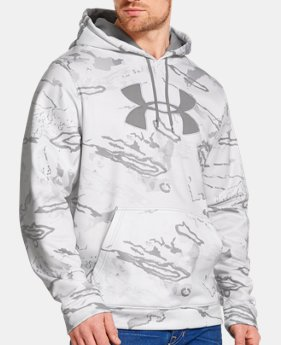 Men's Armour® Fleece Camo Big Logo Hoodie   $42.74