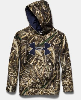 Boys' Armour® Fleece Camo Big Logo Hoodie