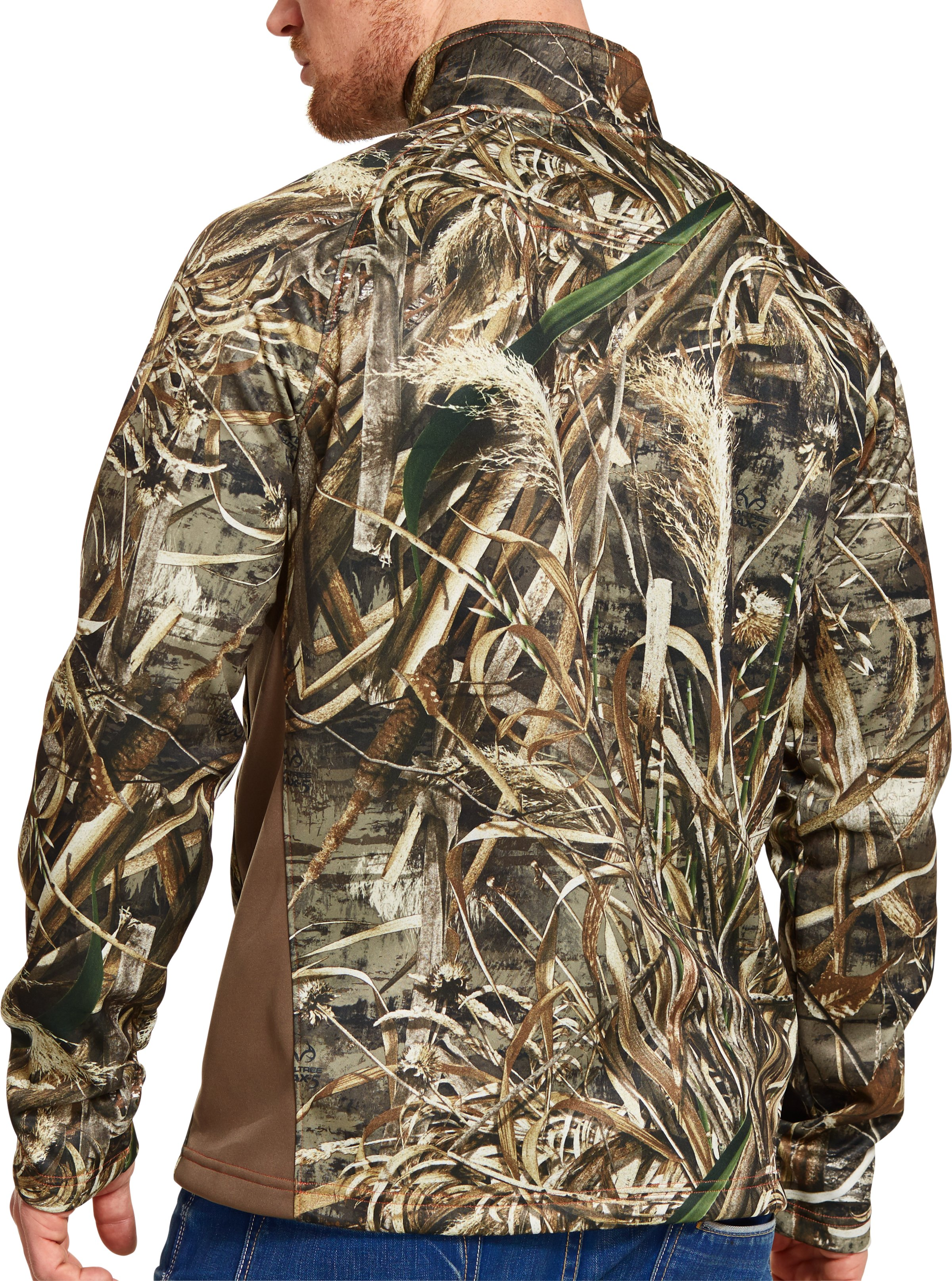 Men's UA Camo Performance ¼ Zip, REALTREE MAX 5, Back