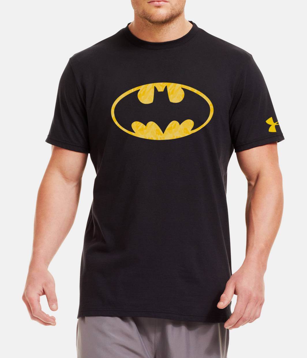 Black t shirt batman - Black Zoomed Image