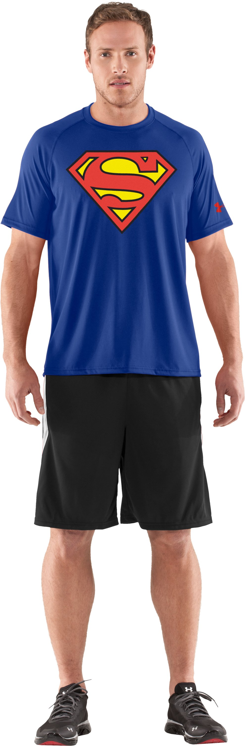 Men's Under Armour® Alter Ego Superman T-Shirt, Royal, Front
