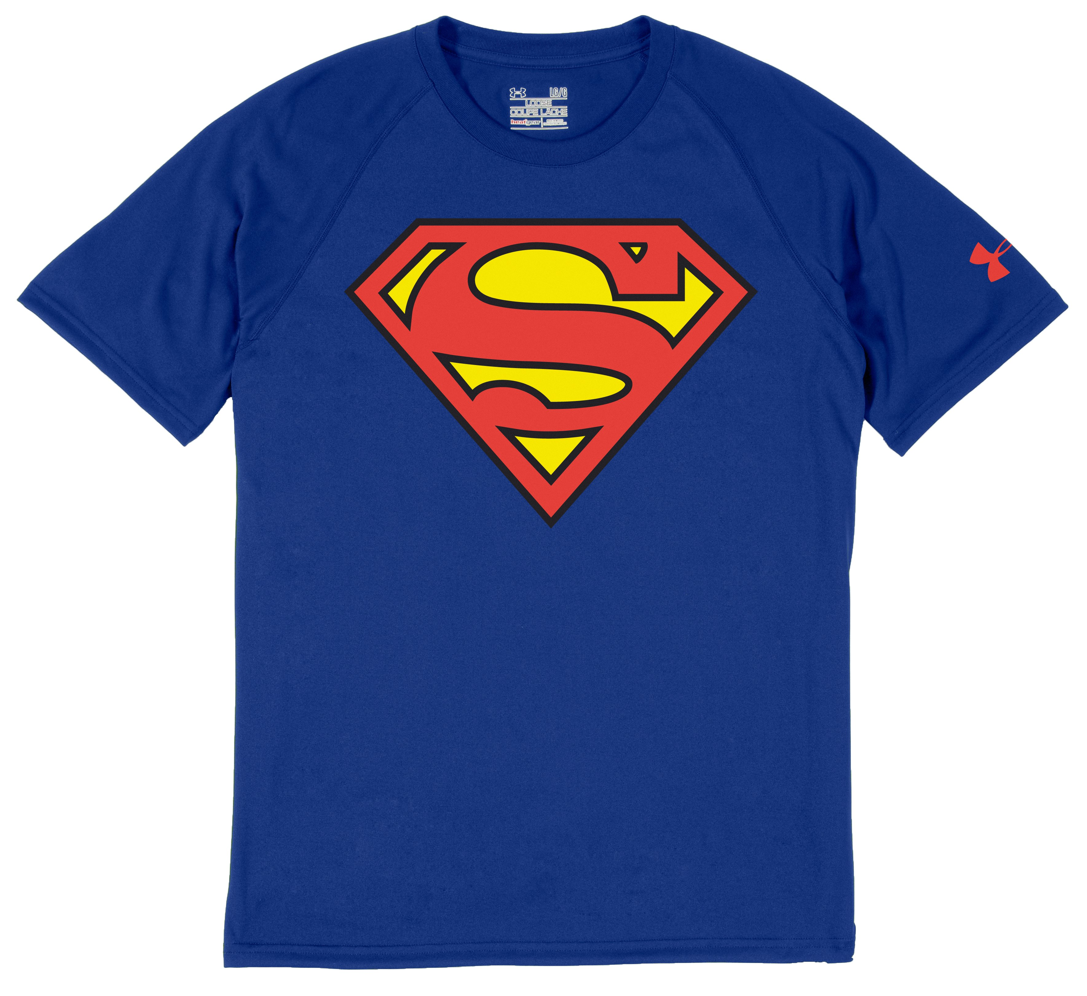 Men's Under Armour® Alter Ego Superman T-Shirt, Royal, Laydown