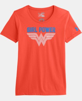 Girls' Under Armour® Alter Ego Wonder Woman Glow T-Shirt