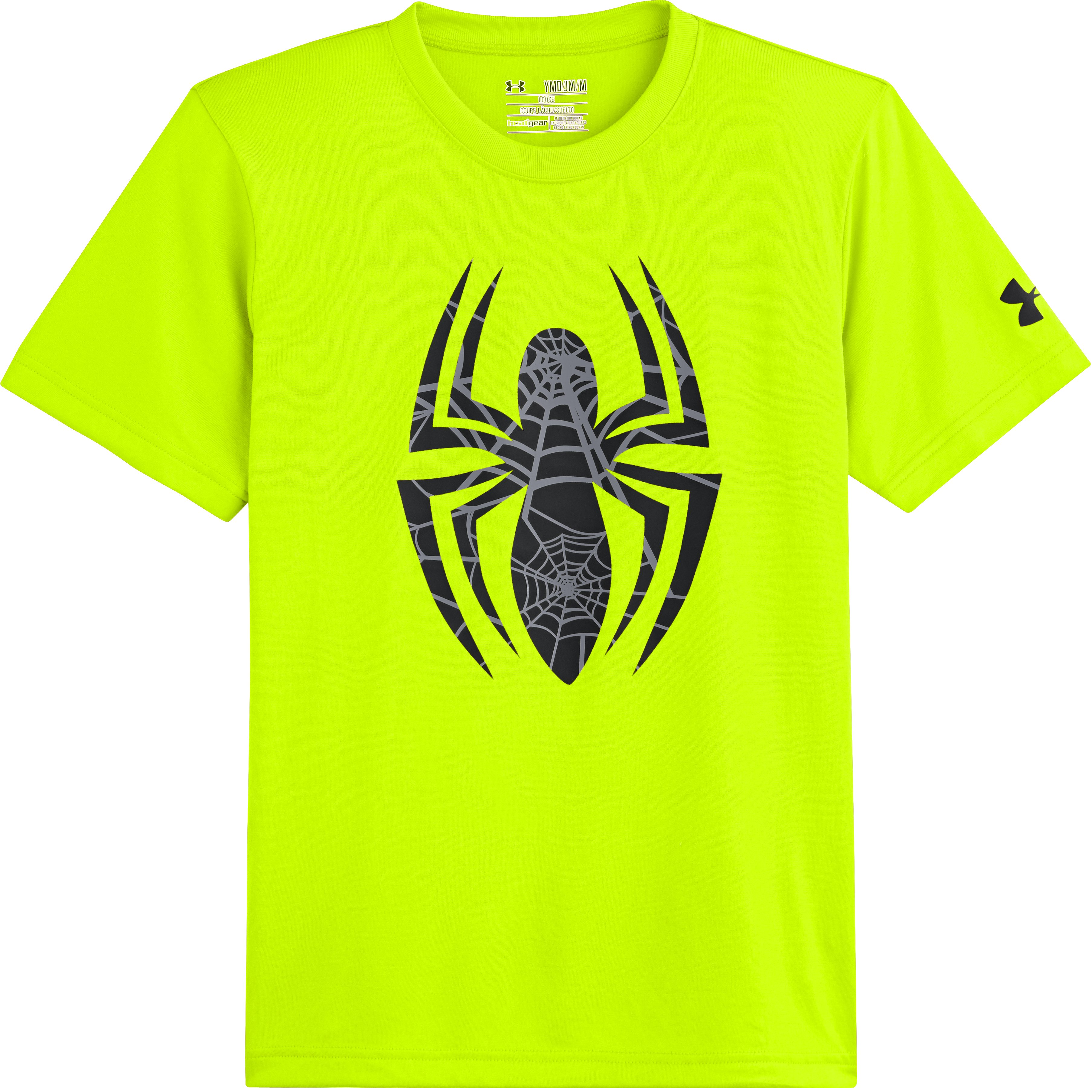 Boys' Under Armour® Alter Ego Spider-Man Logo T-Shirt, High-Vis Yellow, Laydown