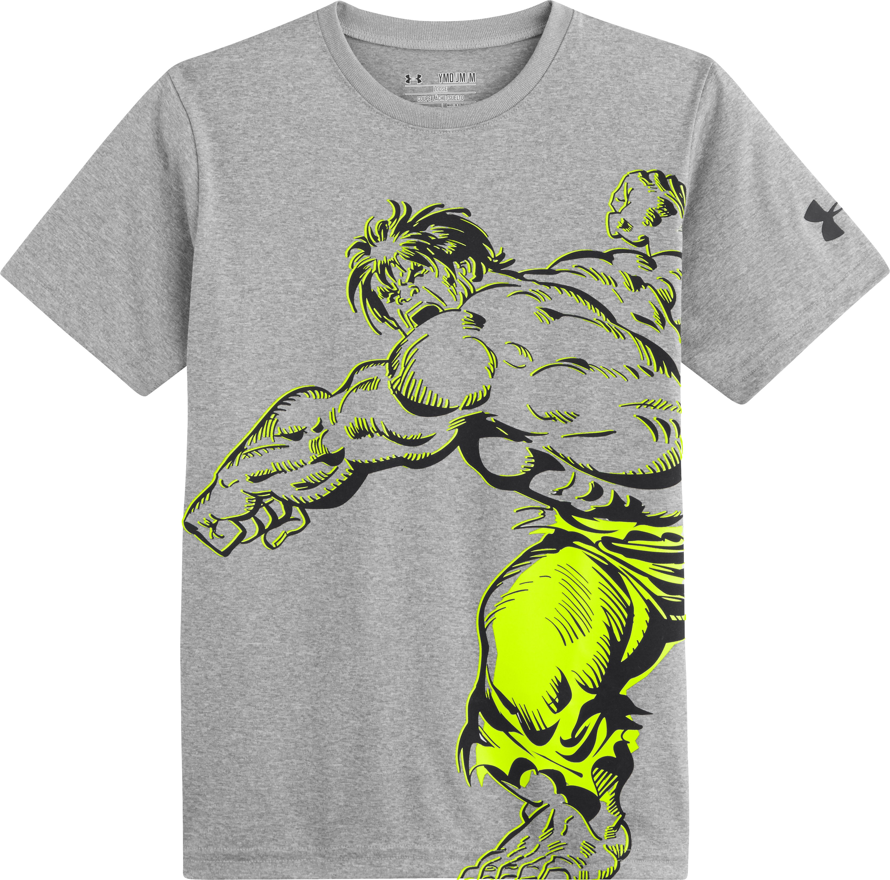 Boys' Under Armour® Alter Ego Hulk Action T-Shirt, True Gray Heather, Laydown