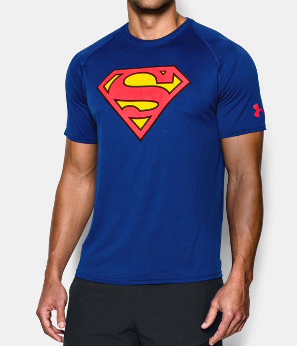 men 39 s under armour alter ego superman core t shirt under armour us. Black Bedroom Furniture Sets. Home Design Ideas