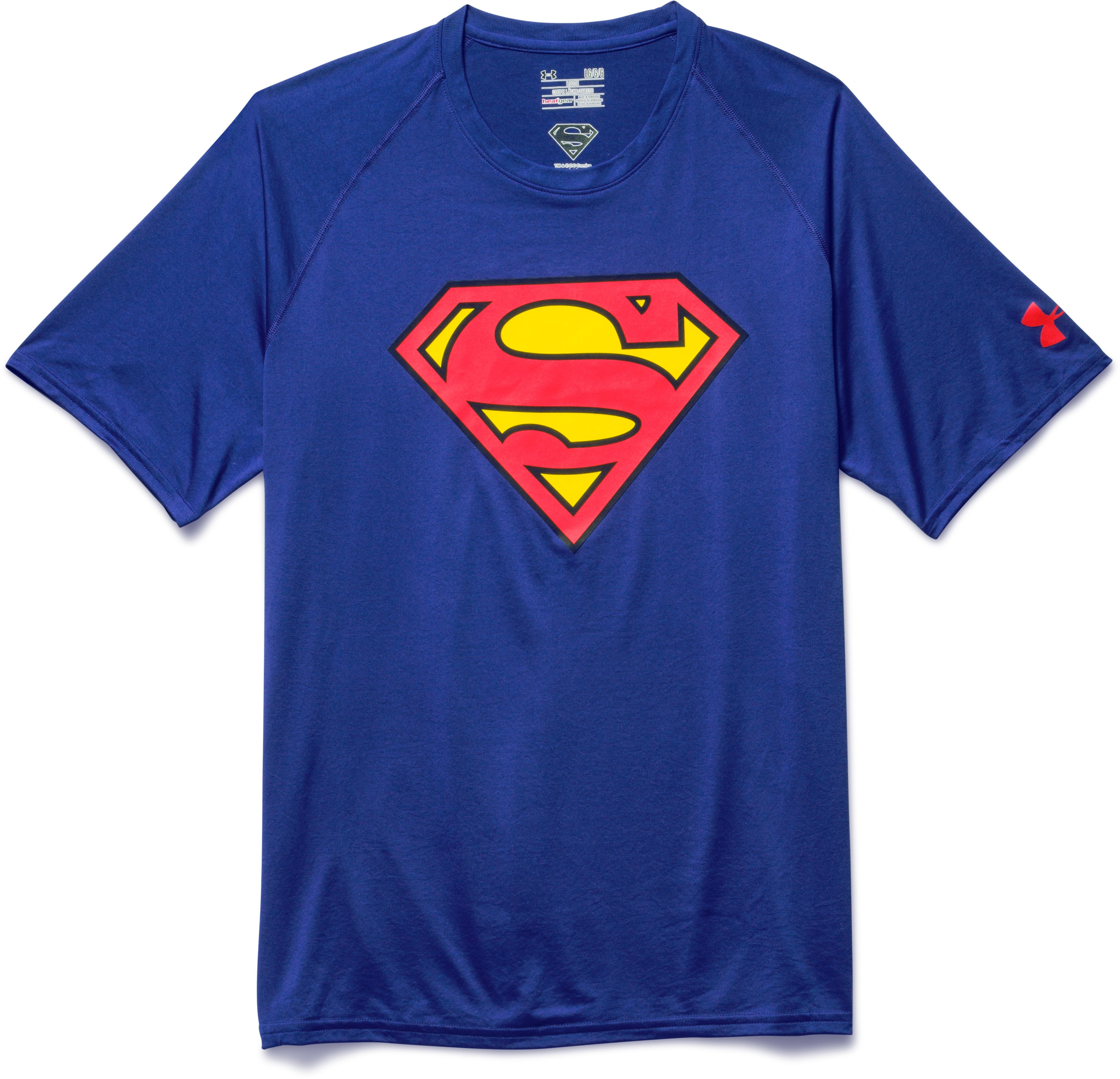 Men's Under Armour® Alter Ego Superman Core T-Shirt, Royal, Laydown