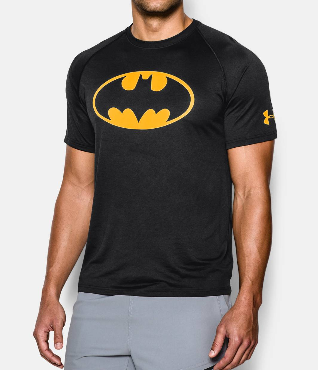 men 39 s under armour alter ego batman core t shirt under. Black Bedroom Furniture Sets. Home Design Ideas