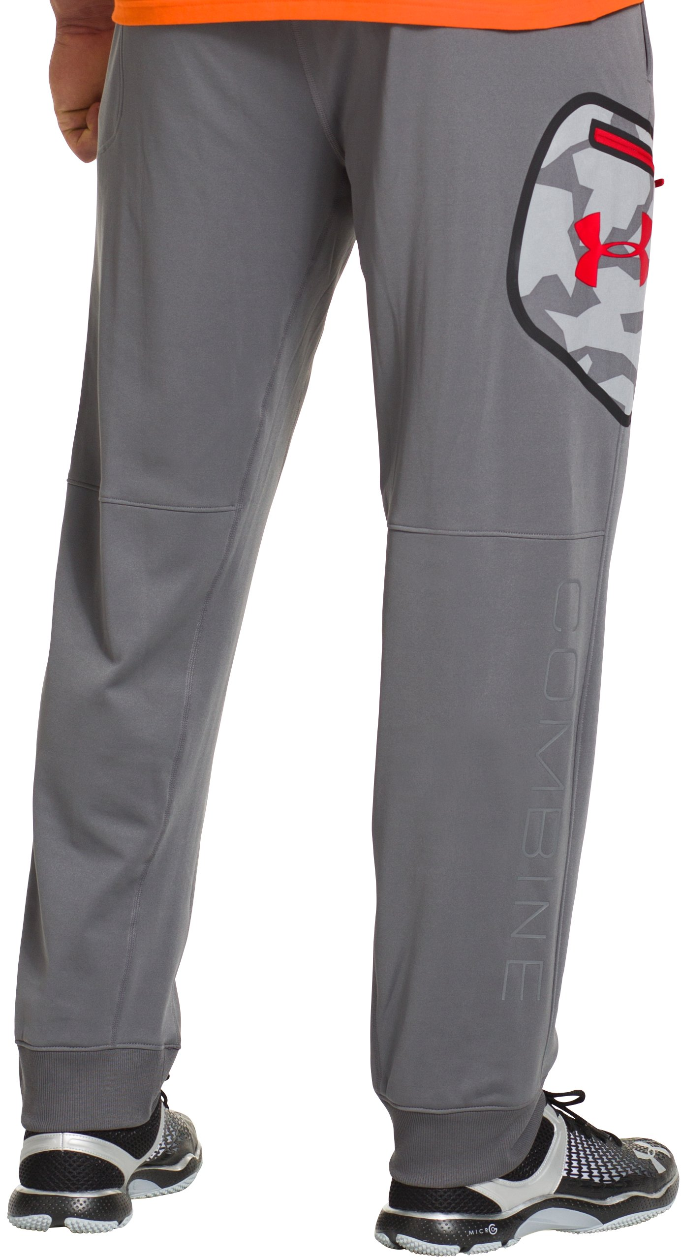 Men's UA Combine® Training Tundra Pants, Graphite, Back