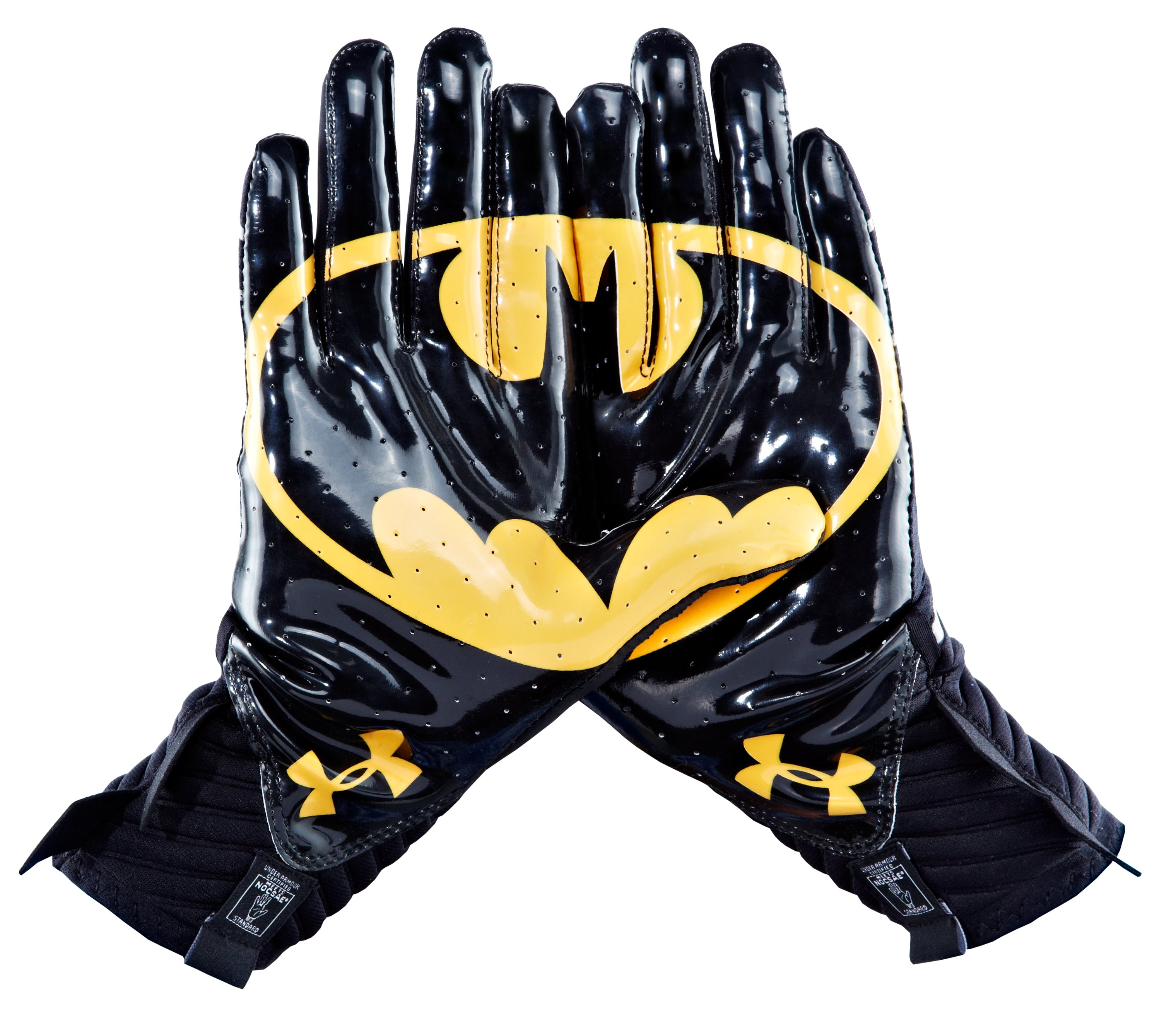 Men's Under Armour® Alter Ego Batman Highlight Football Gloves, Black