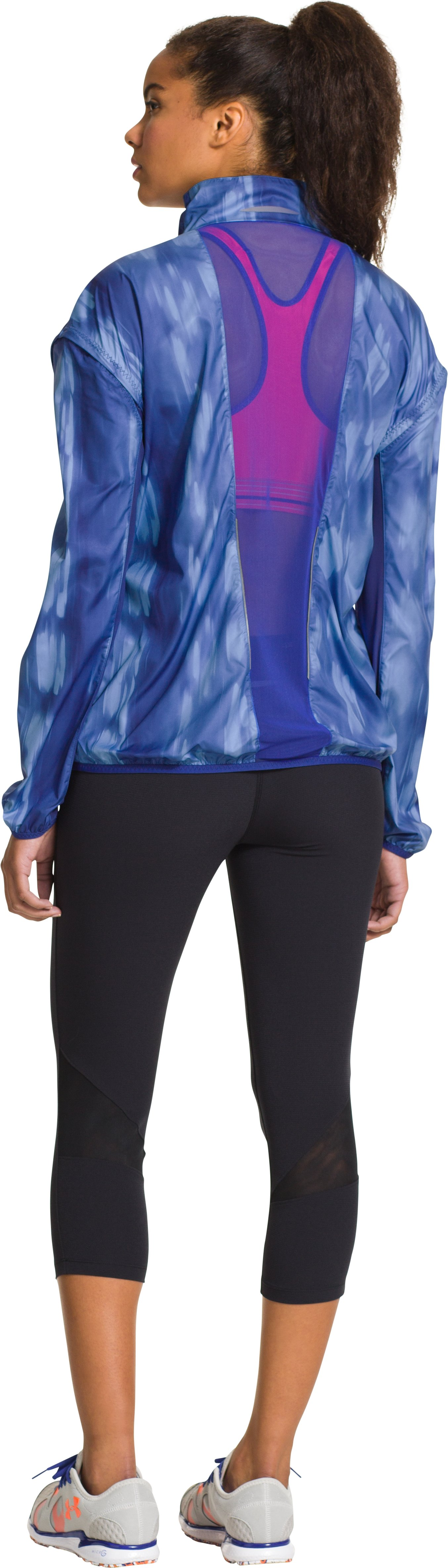 Women's UA Stunner Run Jacket, SIBERIAN IRIS, Back