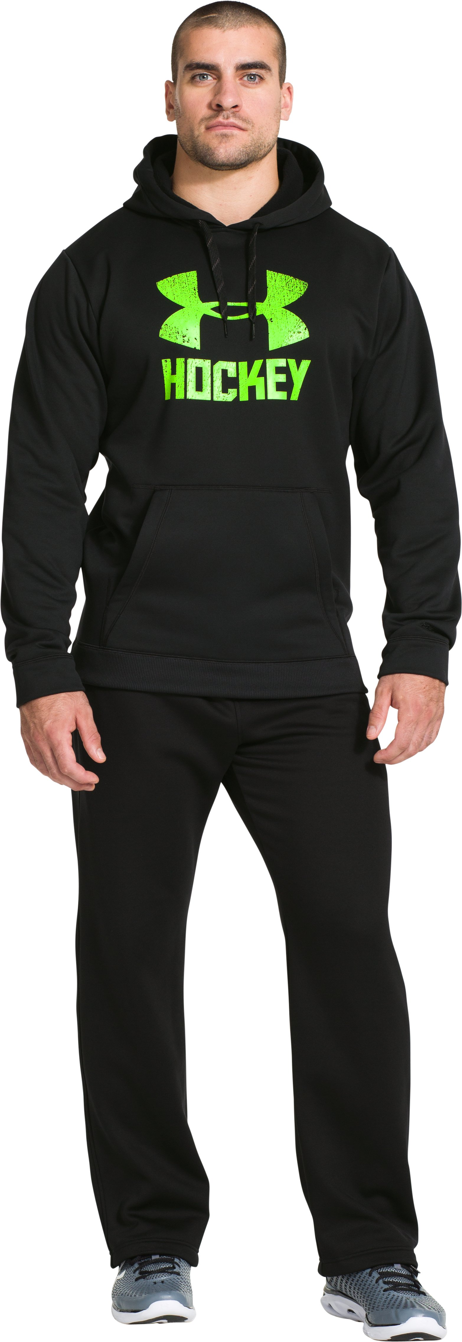 Men's UA Storm Hockey Wordmark Hoodie, Black