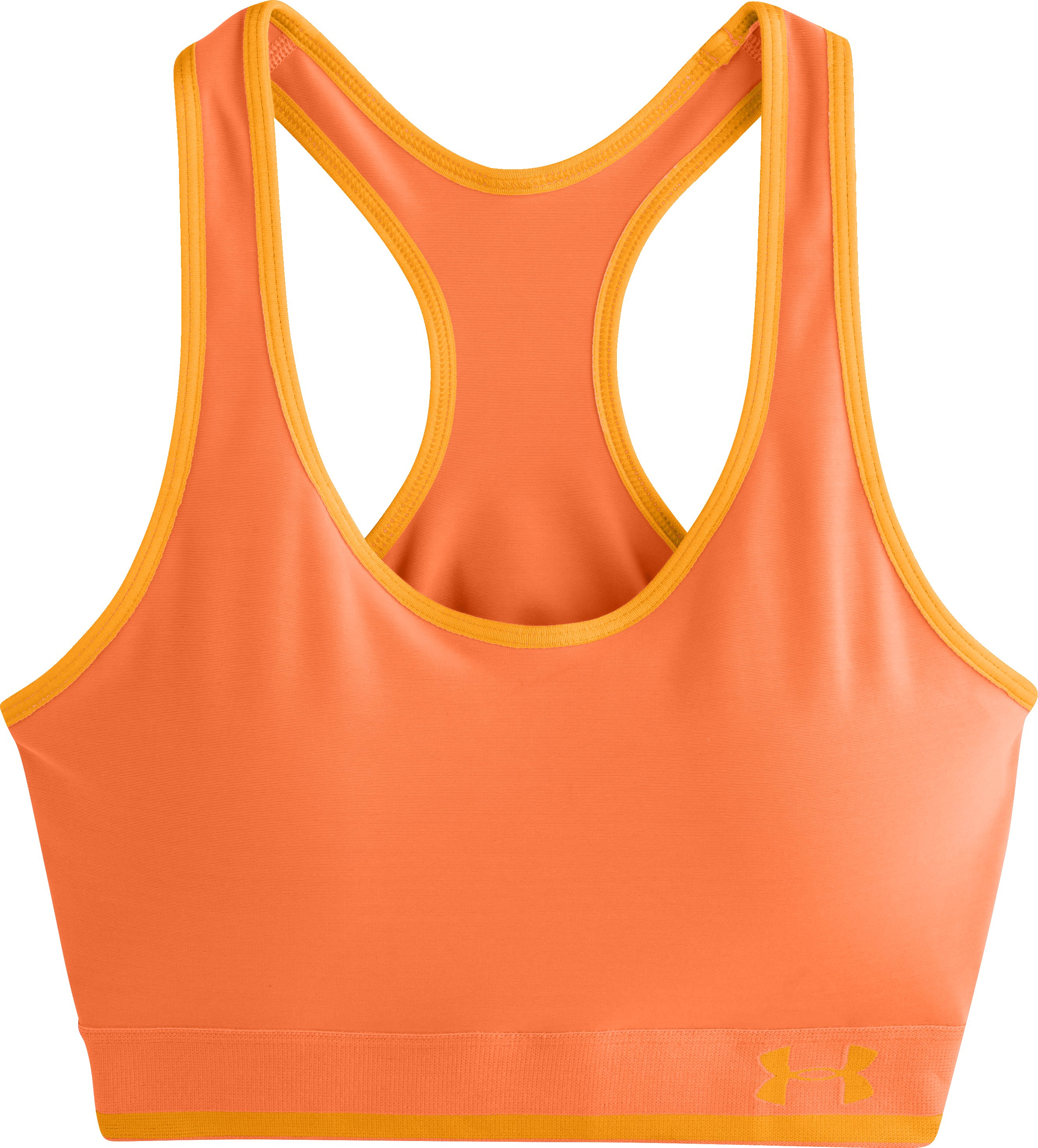 Women's UA Armour Mid Bra w/Cups, CITRUS BLAST, Laydown