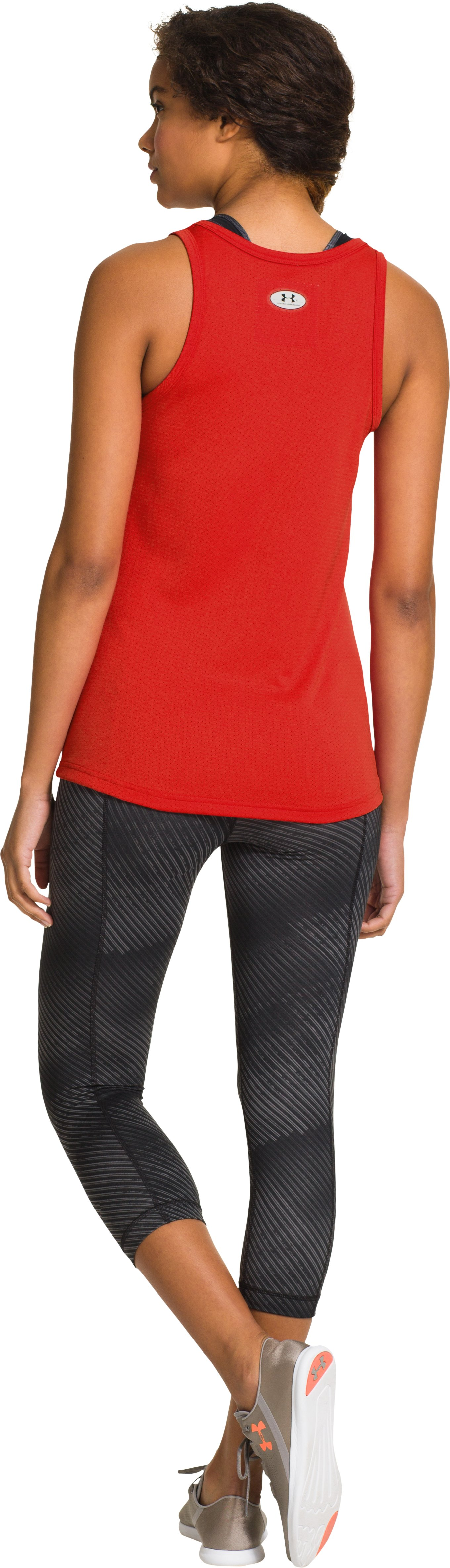 Women's Under Armour® Legacy Mesh Tank, Fuego, Back
