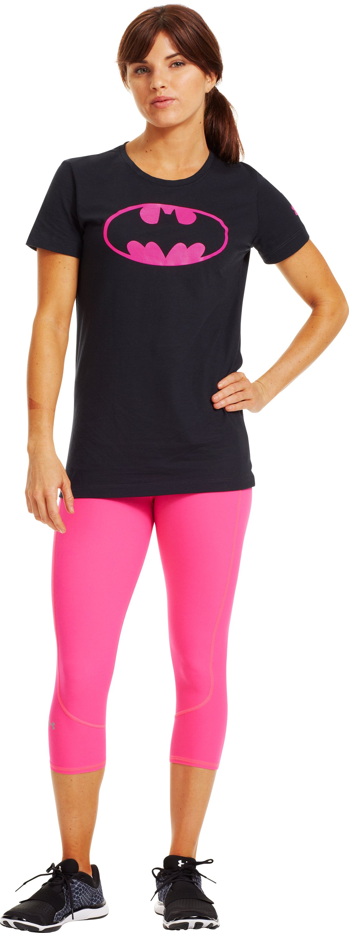 Women's UA Power In Pink®® Under Armour® Alter Ego Batgirl T-Shirt, Black , Front