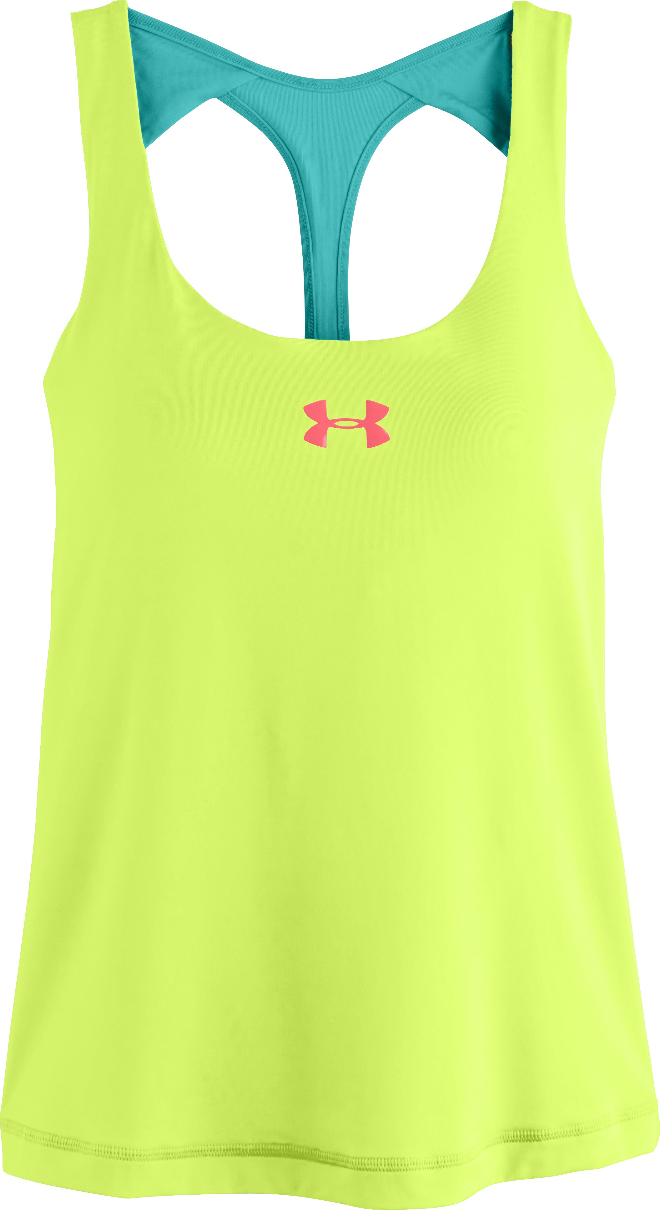 Women's UA Tennis Back In Action Tank, X-Ray, Laydown