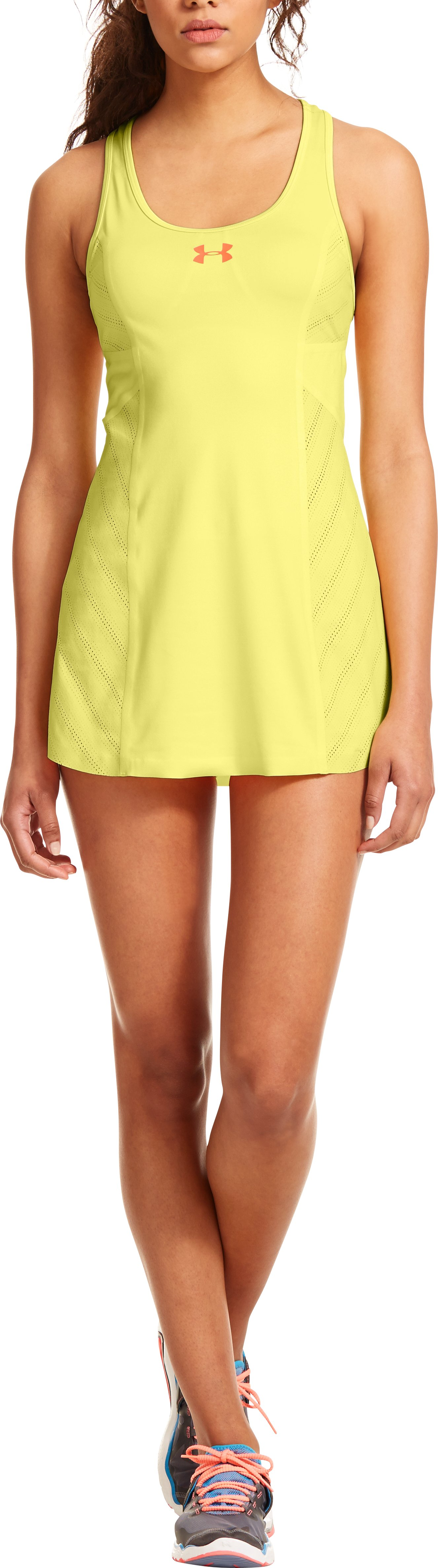 Women's UA Tennis Matchpoint Dress, CHAMOMILE, Front