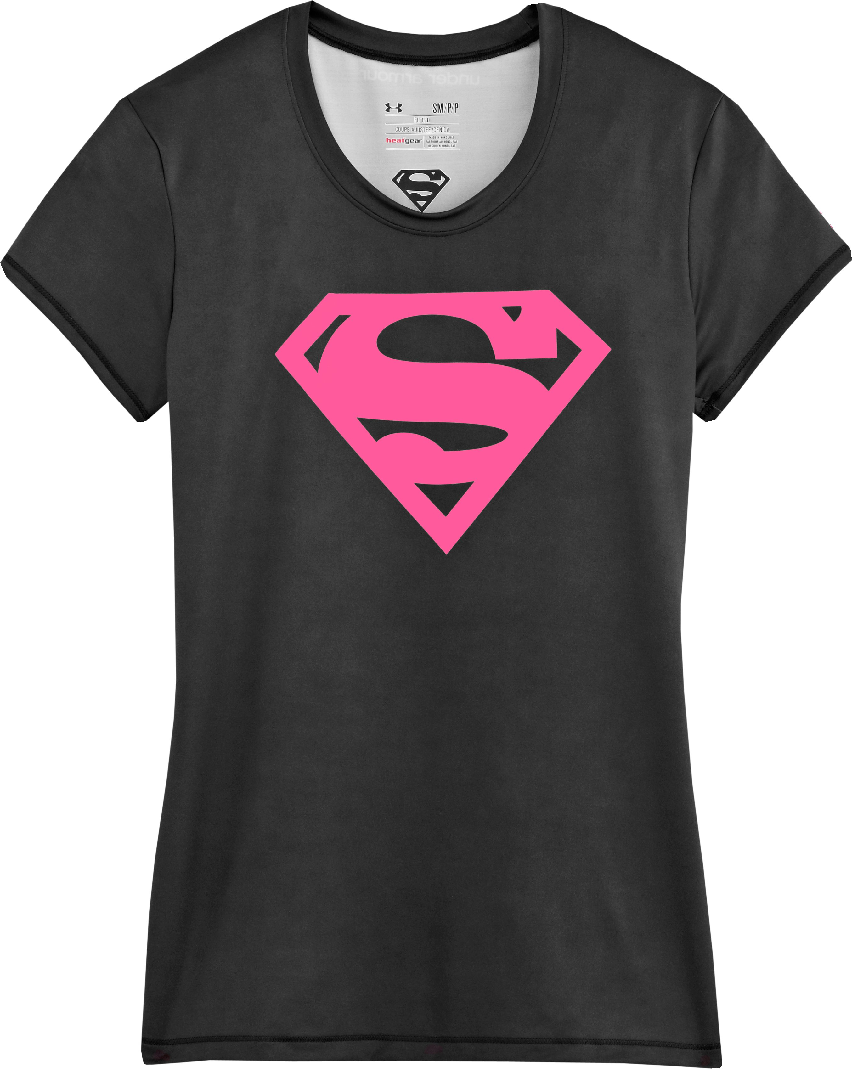 Women's Under Armour® Alter Ego Supergirl Fitted T-Shirt, Tropic Pink, Laydown