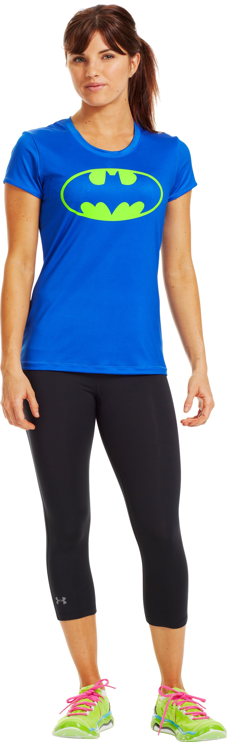 Women's Under Armour® Alter Ego Batgirl Fitted T-Shirt, BLU-AWAY, Front