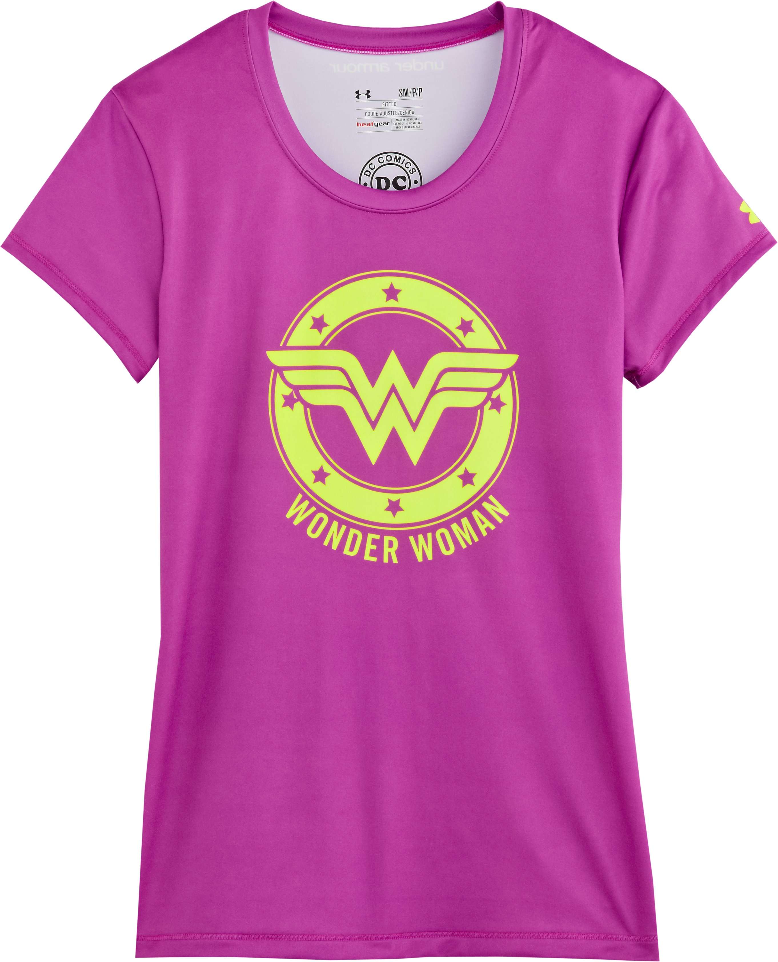 Women's Under Armour® Alter Ego Wonder Woman Fitted T-Shirt, STROBE, Laydown