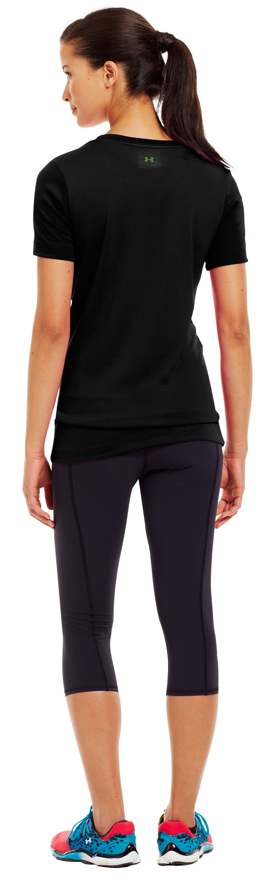 Women's UA Heart Volleyball Graphic T-Shirt, Black , Back