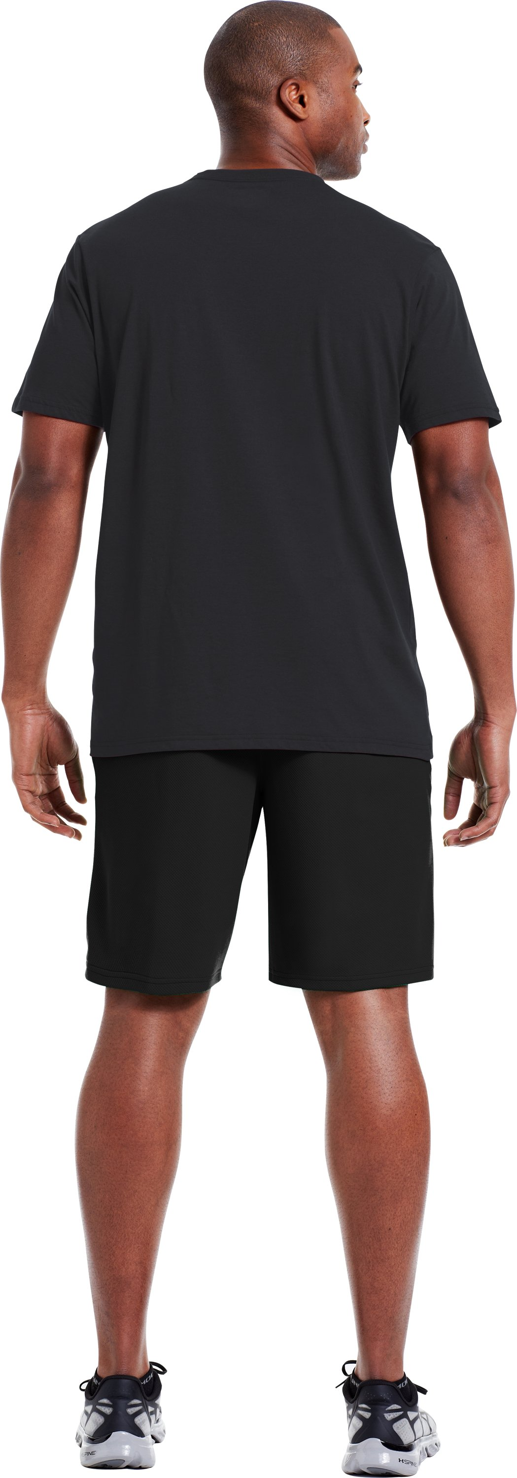 Men's UA Neon Camo T-Shirt, Black , Back