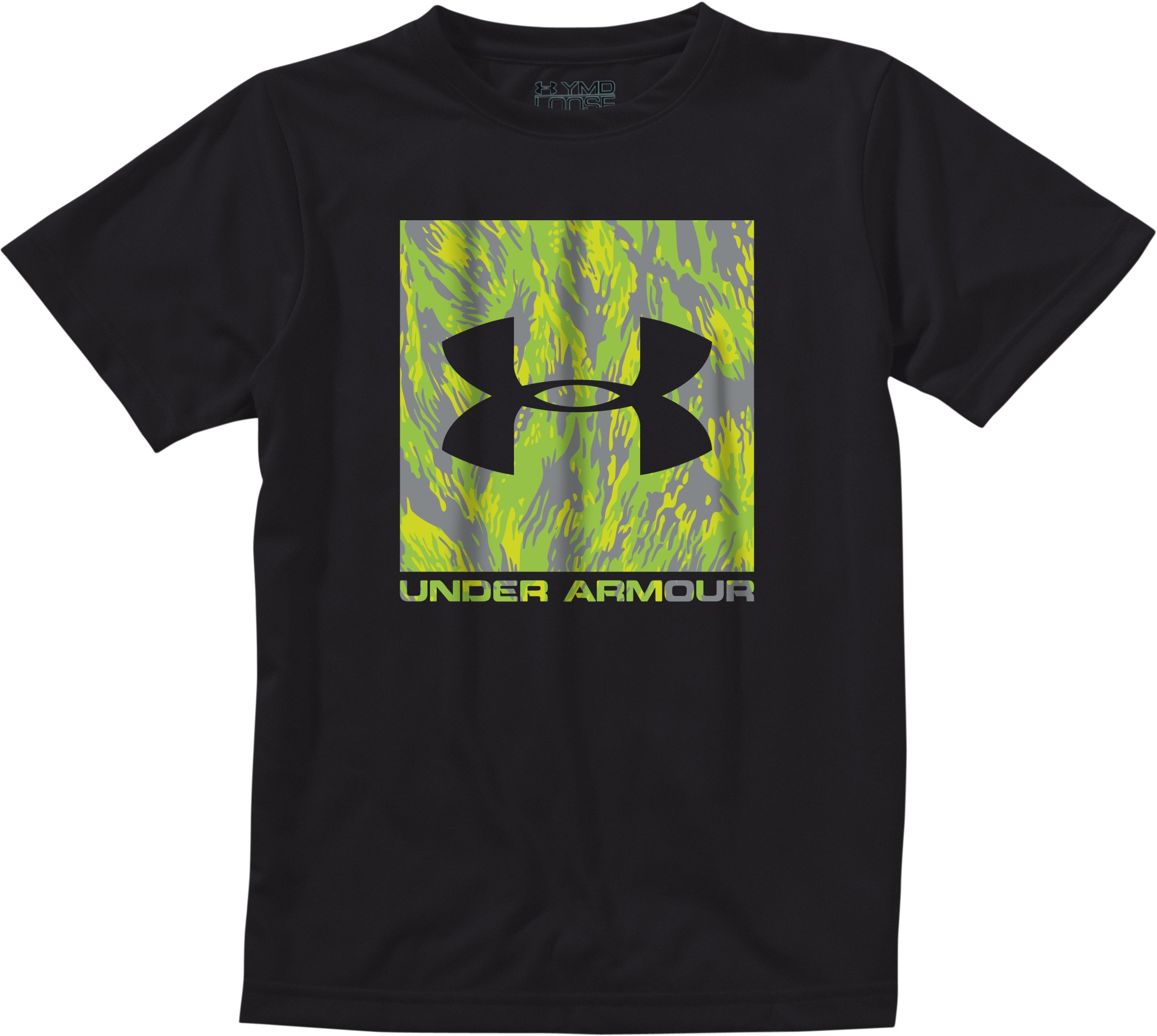 Men's UA Neon Camo T-Shirt, Black , Laydown