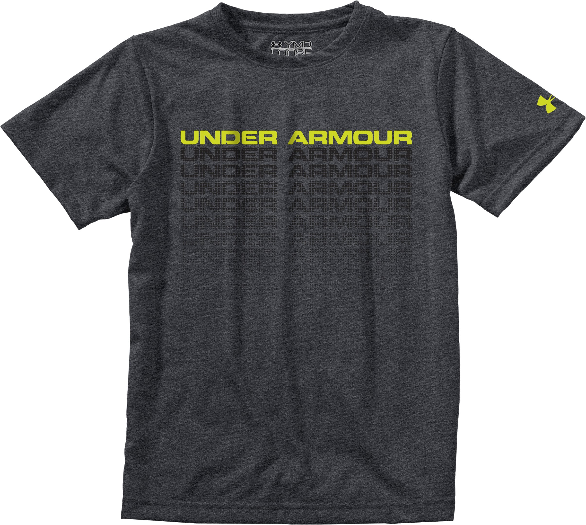 Men's UA Stack Up T-Shirt, Carbon Heather, Laydown
