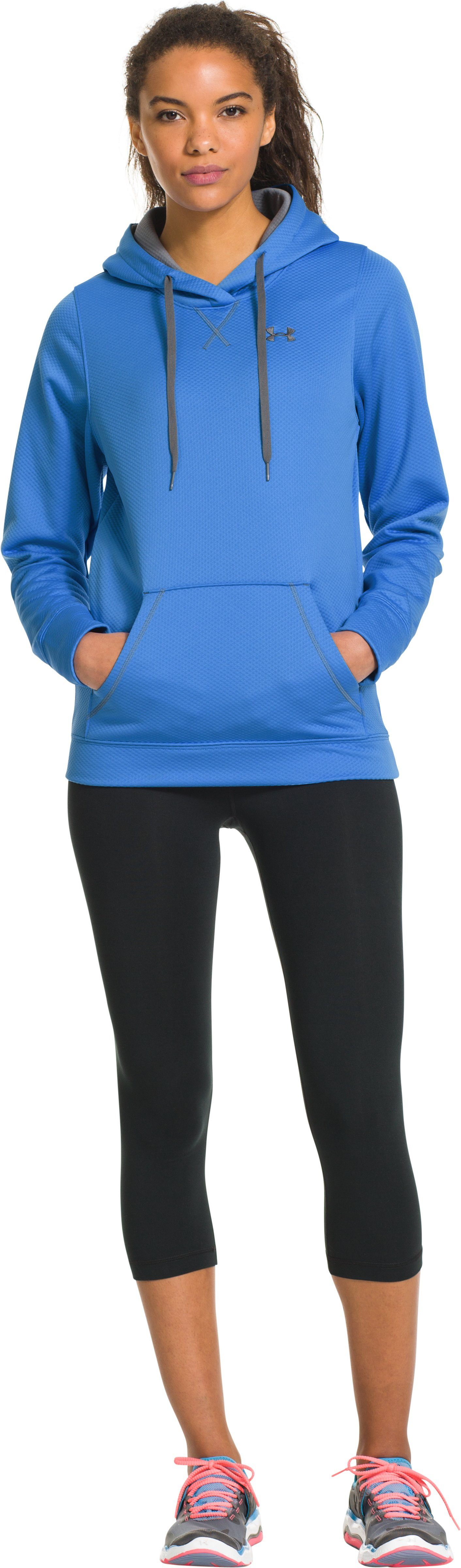 Women's UA Tech™ Fleece Hoodie, Water, Front