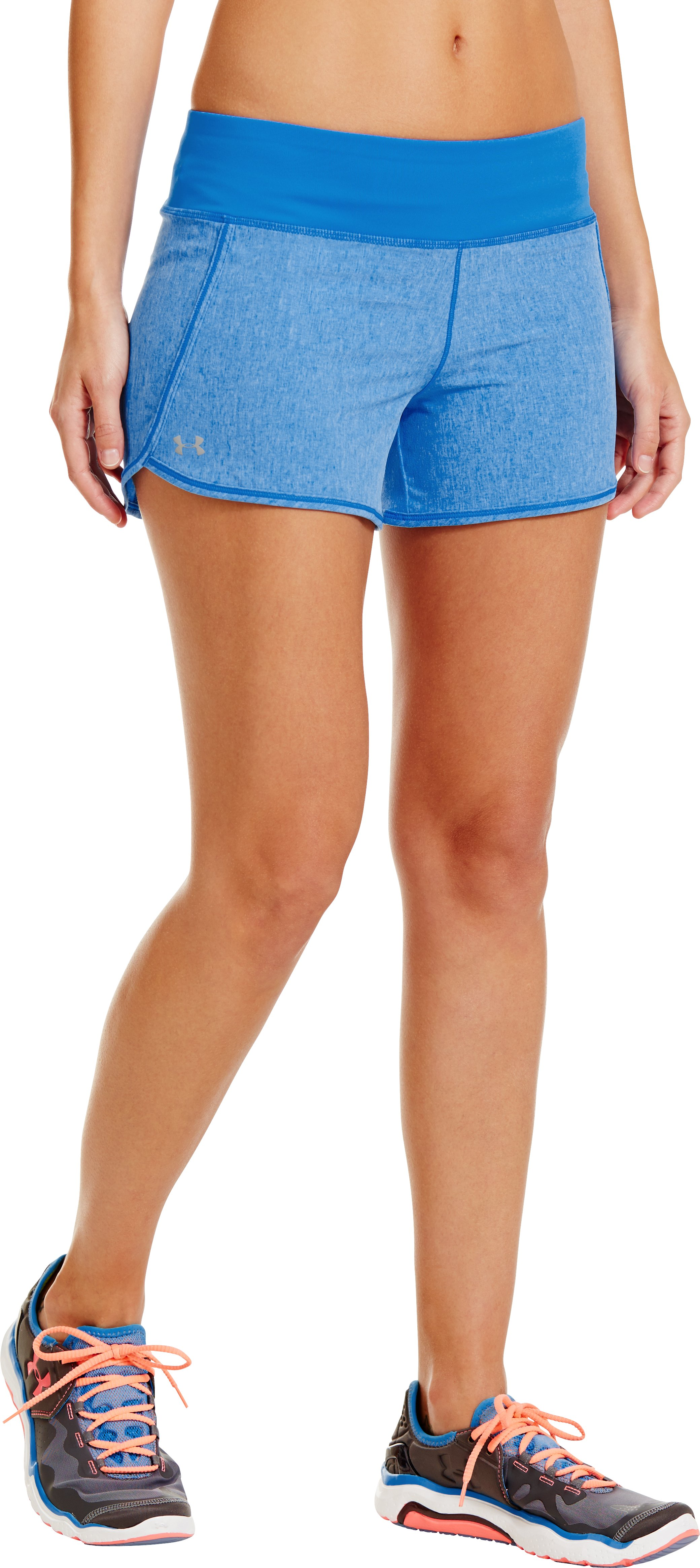 Women's UA Printed Get Going Shorts, ELECTRIC BLUE