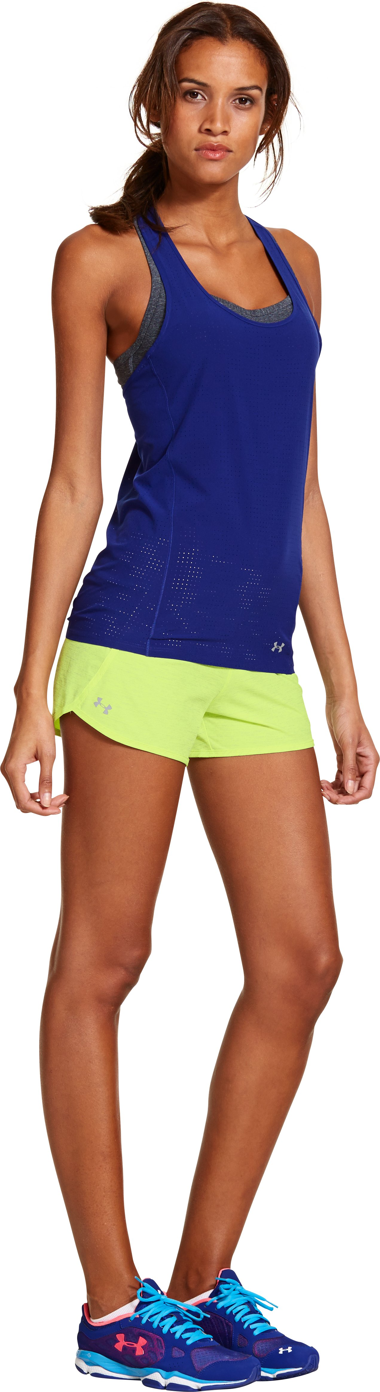 Women's UA Printed Get Going Shorts, X-Ray, Front