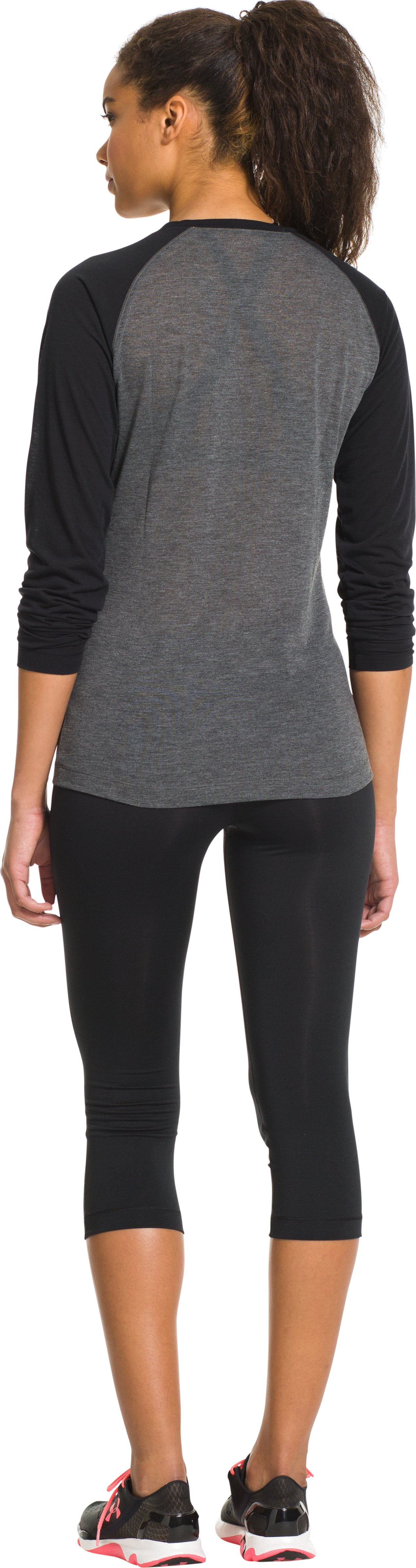 Women's UA Tech™ Overdye Long Sleeve, Carbon Heather, Back