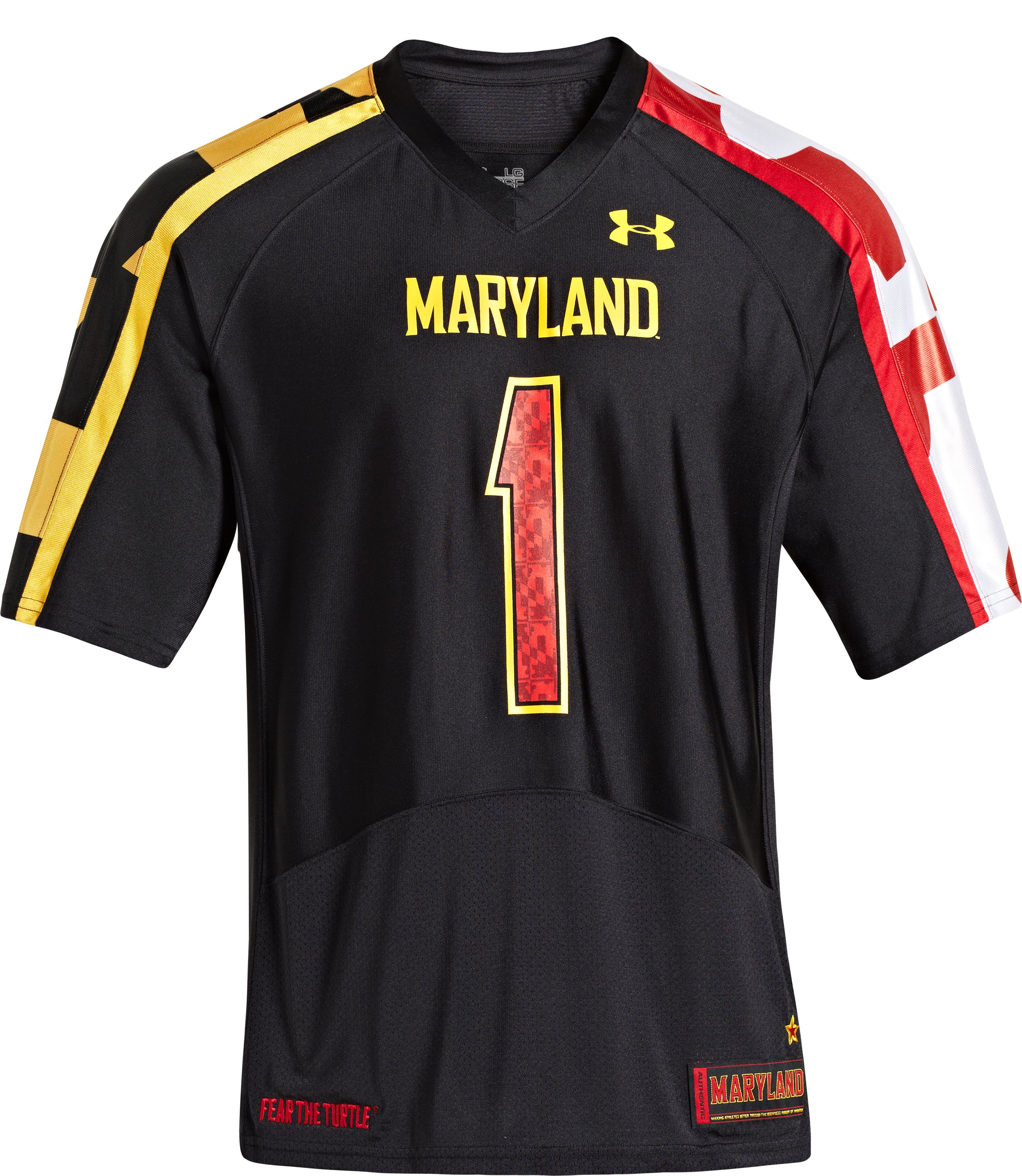 Men's UA Maryland Pride Replica Jersey, Black , Front