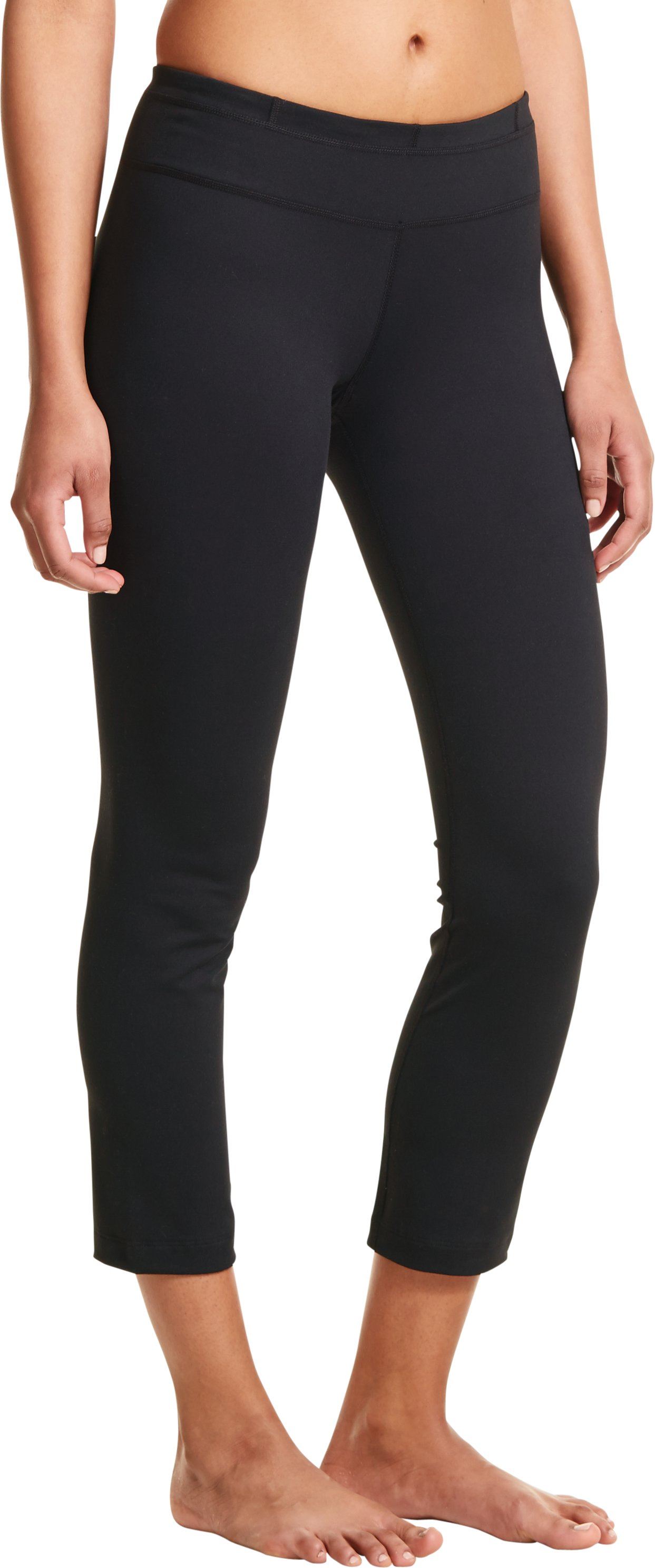 Women's UA StudioLux® Quattro Pencil Crop Pant, Black , zoomed image